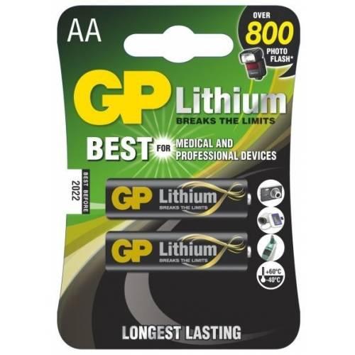 Lithiové baterie GP - 8 kusů